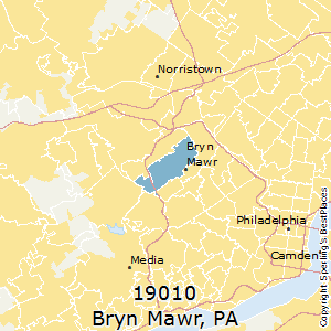 Bryn_Mawr,Pennsylvania(19010) Zip Code Map