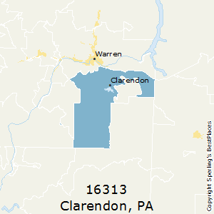 Clarendon,Pennsylvania(16313) Zip Code Map