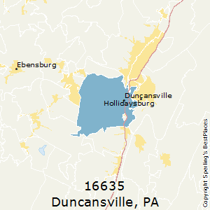 Duncansville,Pennsylvania County Map