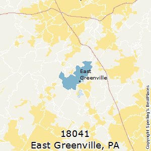 East_Greenville,Pennsylvania County Map