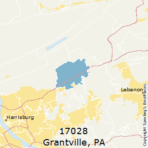 Grantville,Pennsylvania County Map