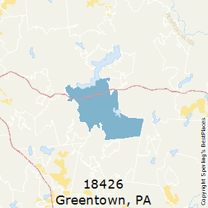 Greentown,Pennsylvania(18426) Zip Code Map
