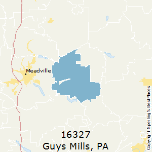 Guys_Mills,Pennsylvania(16327) Zip Code Map