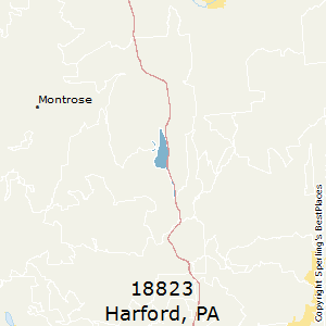 Harford,Pennsylvania(18823) Zip Code Map