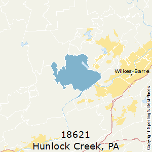 Hunlock_Creek,Pennsylvania County Map