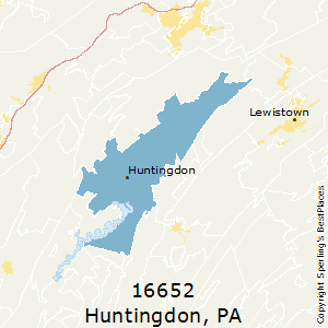 Huntingdon,Pennsylvania(16652) Zip Code Map