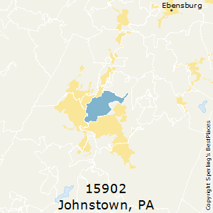 Johnstown,Pennsylvania County Map