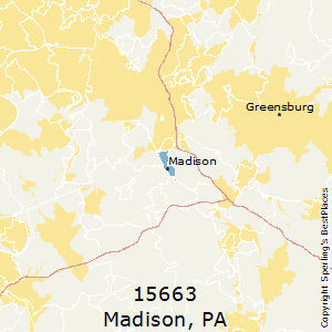 Madison,Pennsylvania County Map