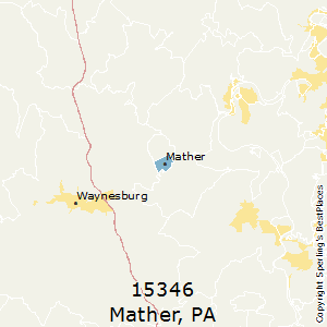 Mather,Pennsylvania County Map