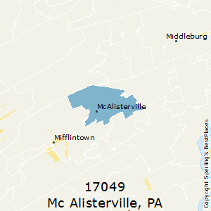 Mc_Alisterville,Pennsylvania County Map