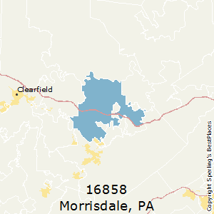 Morrisdale,Pennsylvania County Map