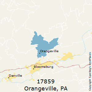 Orangeville,Pennsylvania County Map