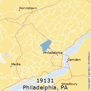 Philadelphia,Pennsylvania(19131) Zip Code Map