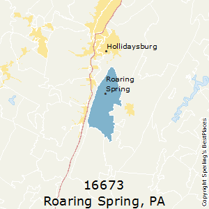 Roaring_Spring,Pennsylvania County Map