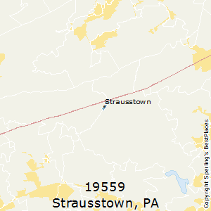 Strausstown,Pennsylvania County Map