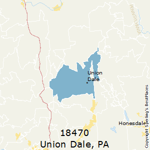 Union_Dale,Pennsylvania County Map