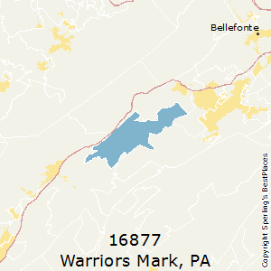 Warriors_Mark,Pennsylvania County Map