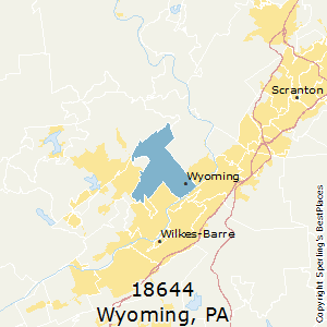 Wyoming,Pennsylvania County Map