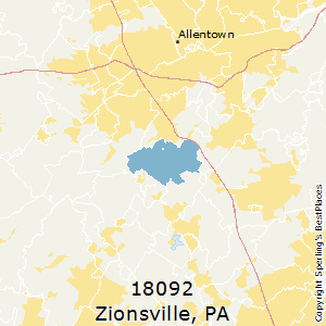 Best Places to Live in Zionsville (zip 18092), Pennsylvania