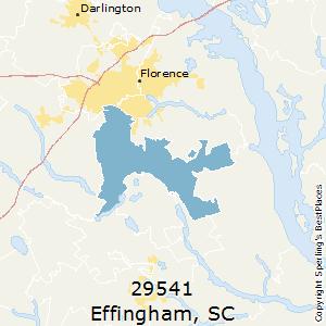 29541 Zip Code   Effingham, South Carolina   Map ...