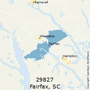 Fairfax Zip Code Map.Best Places To Live In Fairfax Zip 29827 South Carolina