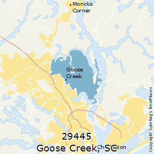Goose_Creek,South Carolina(29445) Zip Code Map