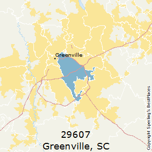 Greer Sc Zip Code Map.Best Places To Live In Greenville Zip 29607 South Carolina