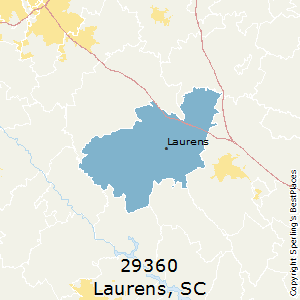 Laurens,South Carolina County Map