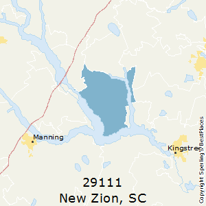 New_Zion,South Carolina County Map