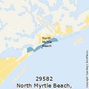 North_Myrtle_Beach,South Carolina County Map