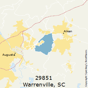 Warrenville,South Carolina County Map