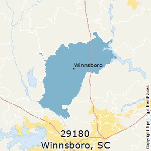 Winnsboro,South Carolina County Map