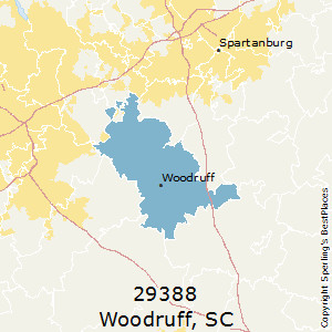 Woodruff,South Carolina County Map