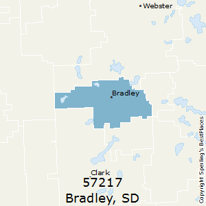 Bradley,South Dakota County Map