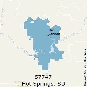 Hot_Springs,South Dakota County Map