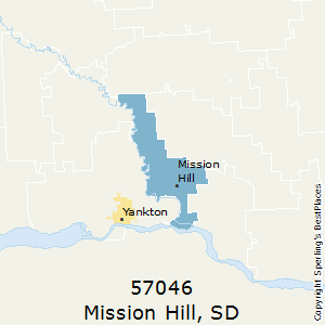 Mission_Hill,South Dakota County Map