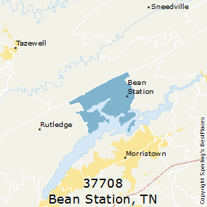 Bean_Station,Tennessee County Map