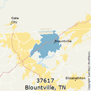 Blountville,Tennessee County Map