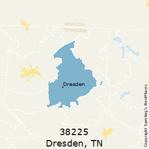 Dresden,Tennessee County Map