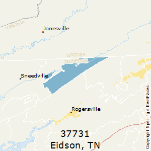 Eidson,Tennessee County Map