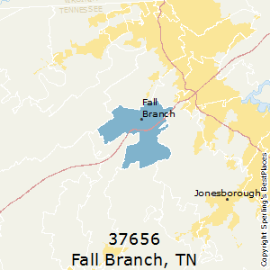 Fall_Branch,Tennessee County Map