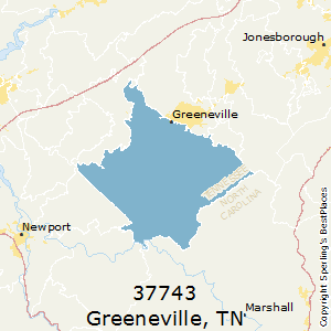 Greeneville,Tennessee County Map
