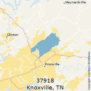 Knoxville,Tennessee County Map