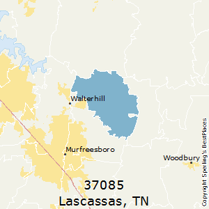 Lascassas,Tennessee County Map