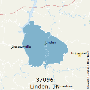 Linden,Tennessee County Map