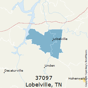 Lobelville,Tennessee County Map