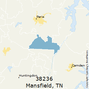 Mansfield,Tennessee County Map