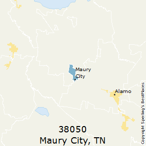 Maury_City,Tennessee(38050) Zip Code Map