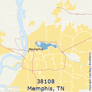 Best places to live in memphis zip 38108 tennessee memphistennessee38108 zip code map sciox Gallery
