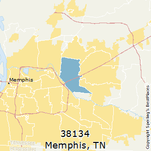 Memphis,Tennessee County Map